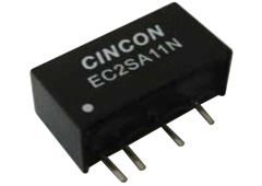 Cincon EC2SA03N 2W 5VDC Input, 15VDC 134mA Unregulated Output DC-DC Converters
